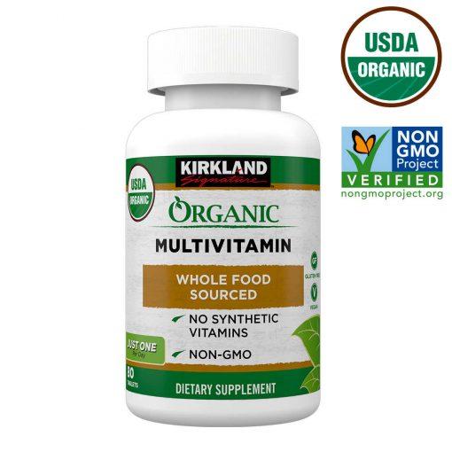 vien uong tong hop vitamin huu co kirkland signature organic multivitamin my