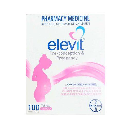 vien uong vitamin ba bau elevit pre conception pregnancy bayer