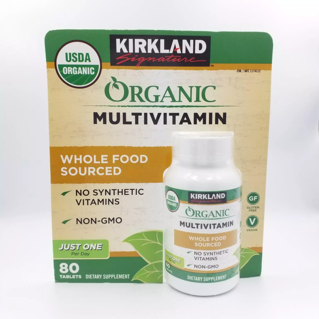 vien uong vitamin huu co kirkland signature organic multivitamin