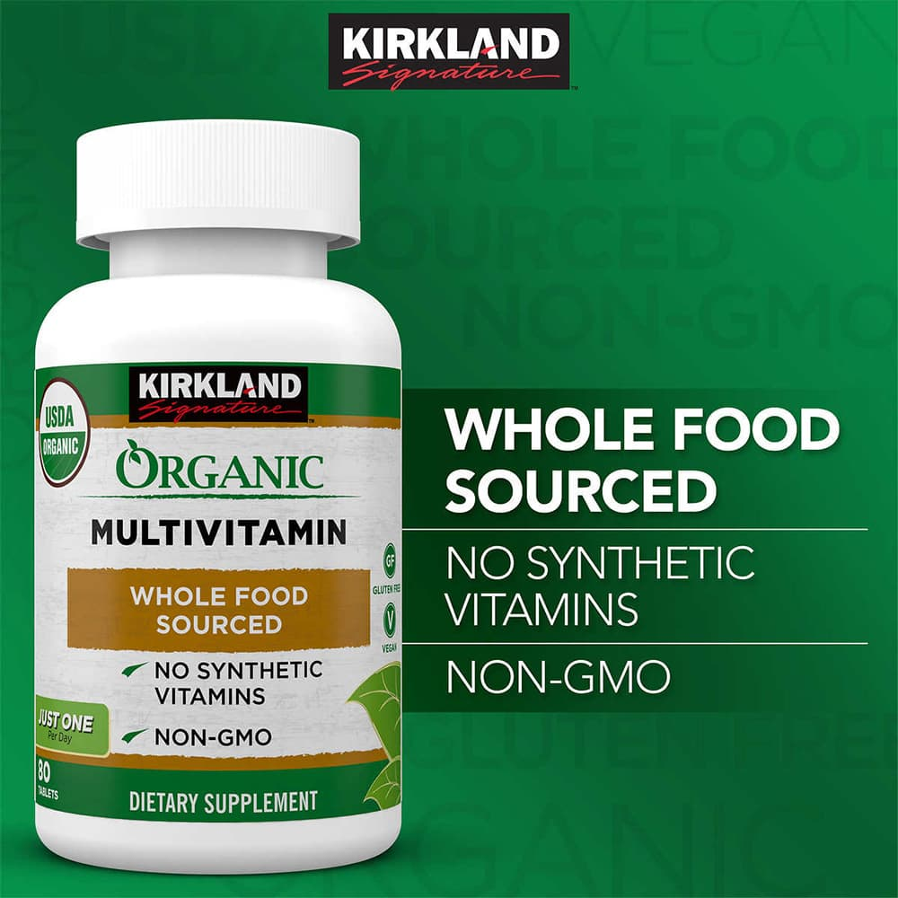 vien uong vitamin huu co kirkland signature organic multivitamin my