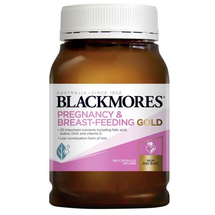 vien uong vitamin tong hop cho ba bau blackmores pregnancy and breast feeding gold