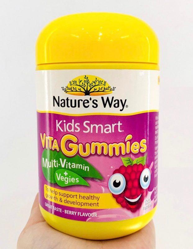 Australia Nature Way Kids Smart Vita Gummies Omega 3 Multivitamins cho be