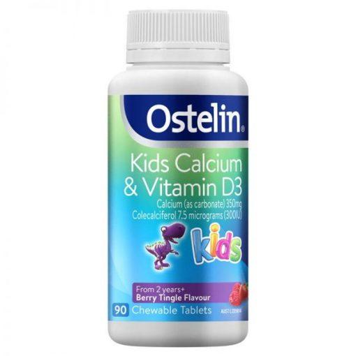Canxi vitamin D ostelin kids cho be
