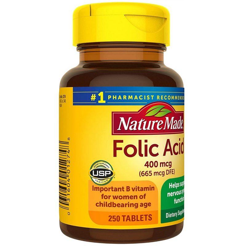 Folic Acid 400mcg Nature Made cua my