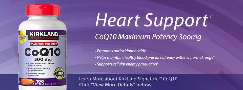 Kirkland Signature CoQ10 300 mg 100 Softgels