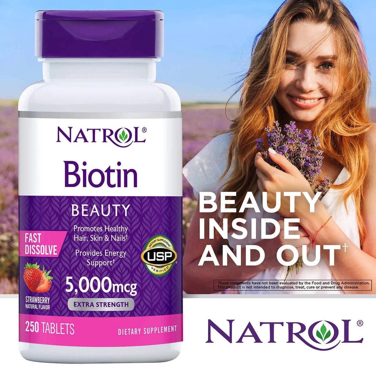 Natrol Biotin Beauty 5000mcg cua my