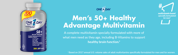 One A Day Mens 50 Healthy Advantage Multivitamin 300 Tablets