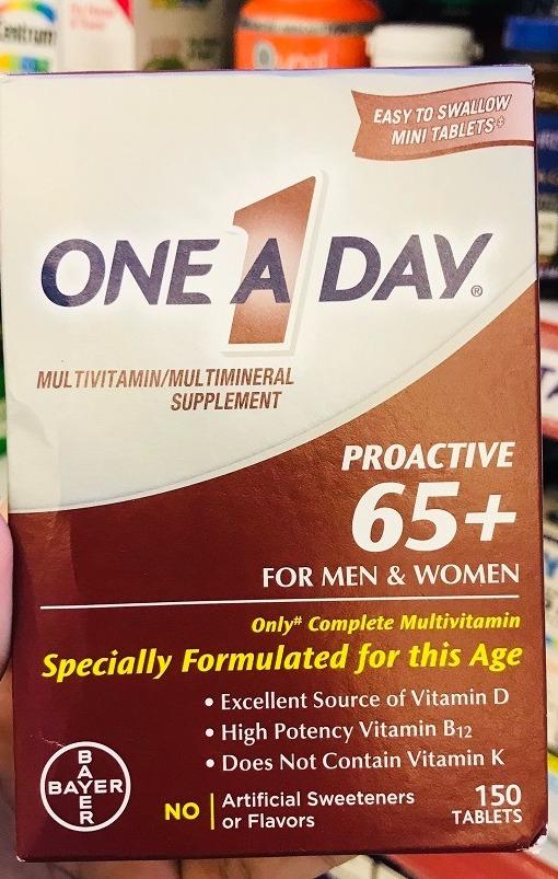 bo sung multivitamin one a day proactive 65 men women tren 65 tuoi nam nu