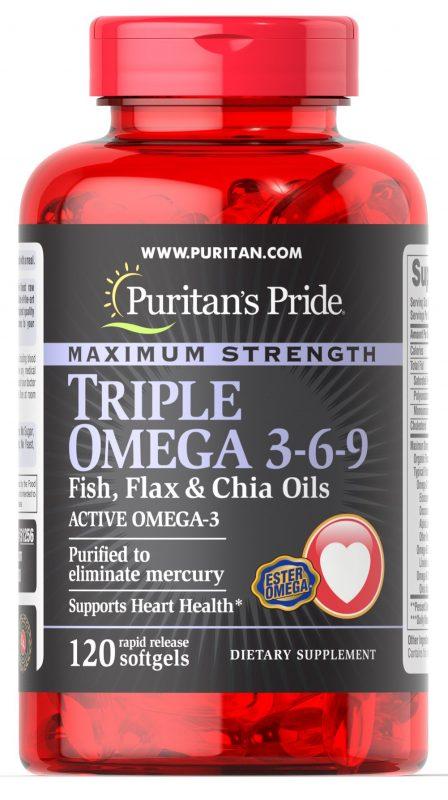 bo tim puritans pride triple omega 3 6 9 fish flax oils