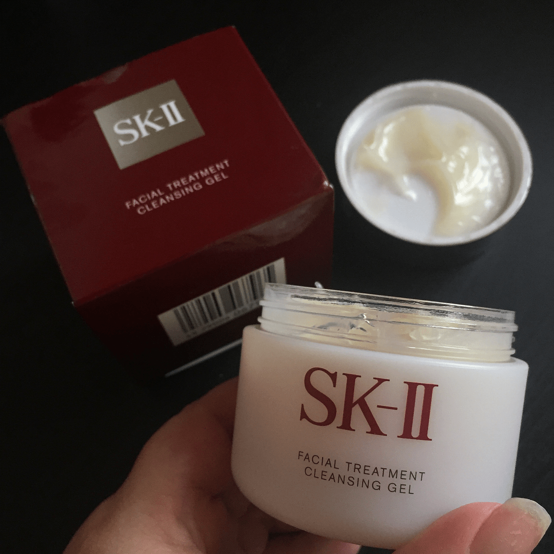 cach dung gel tay trang sk ii facial treatment cleansing gel 80g