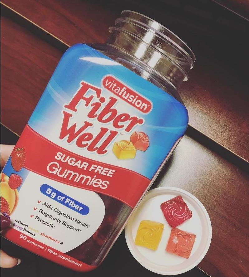 cach dung keo bo sung chat xo vitafusion fiber well sugar free gummies cua my