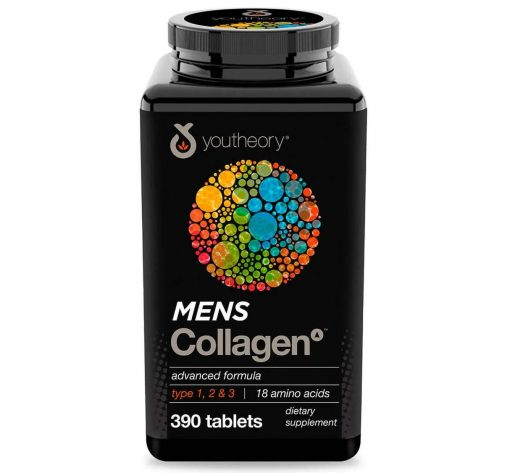 collagen danh cho nam gioi youtheory mens collagen advanced formula 390 vien