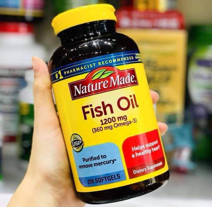 dau ca nature made fish oil 1200 mg 360 mg omega 3 usa