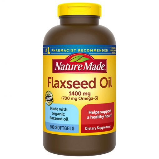 dau hat lanh nature made flaxseed oil 1400mg 700mg omega 3 6 9