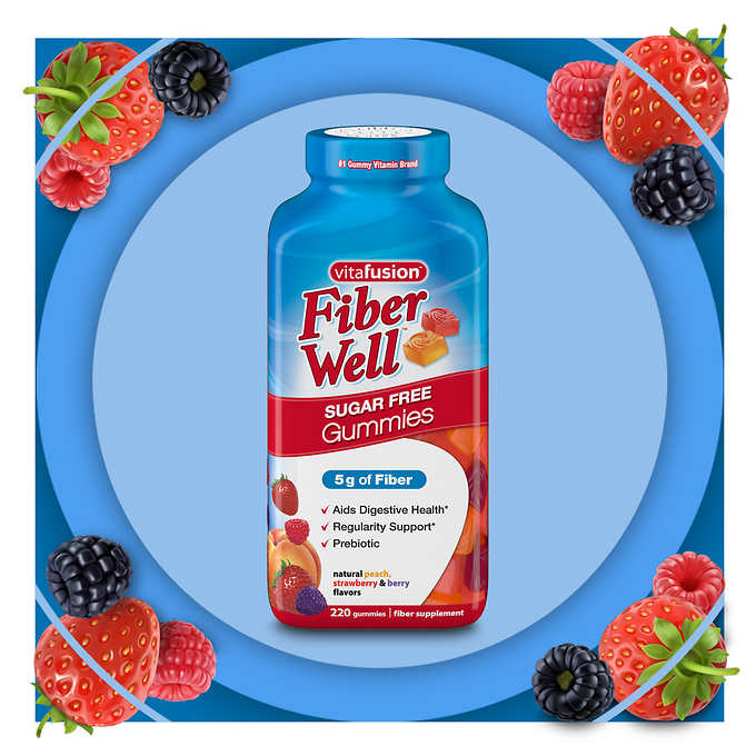 keo bo sung chat xo vitafusion fiber well sugar free gummies cua my