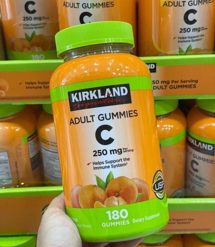 keo deo bo sung vitamin c kirkland 250mg cho nguoi lon usa 180 vien