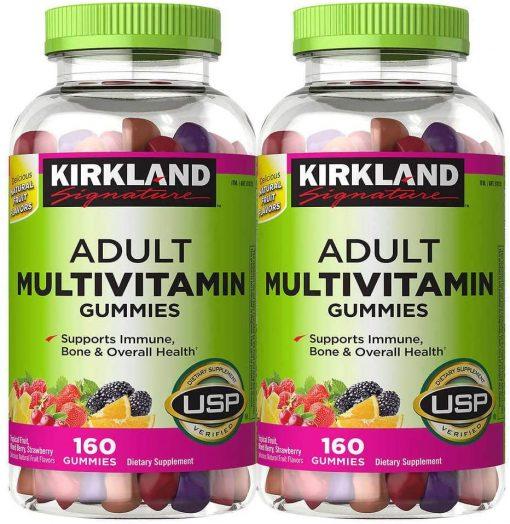 keo deo bo sung vitamin kirkland signature adult multivitamin gummies