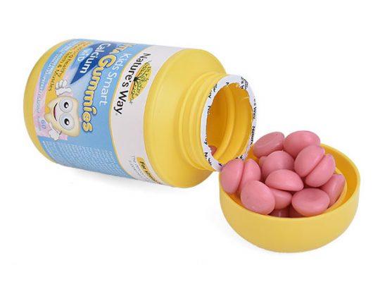 keo deo natures way kids smart vita gummies calcium vitamin d cho be