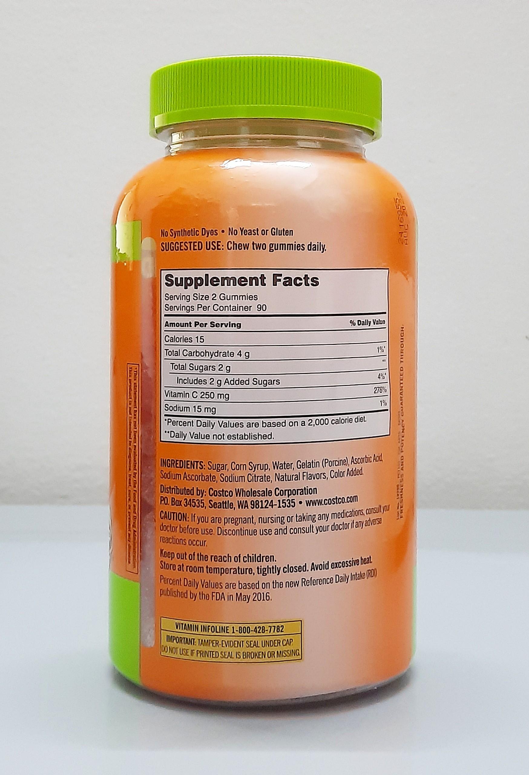 keo deo vitamin c kirkland signature adult gummies c 250mg mau moi