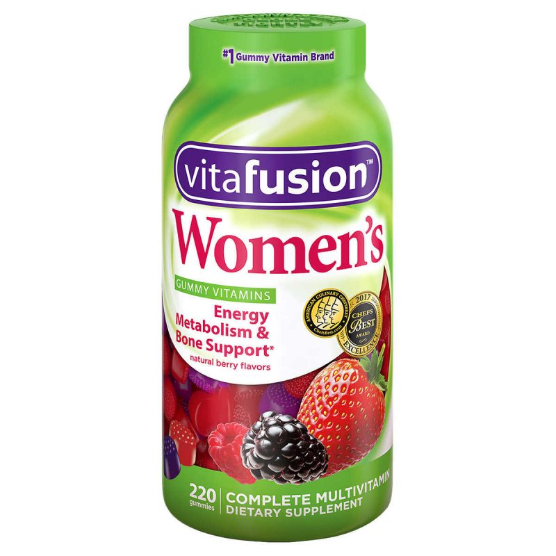 keo deo vitamin cho nu vitafusion womens gummy vitamin