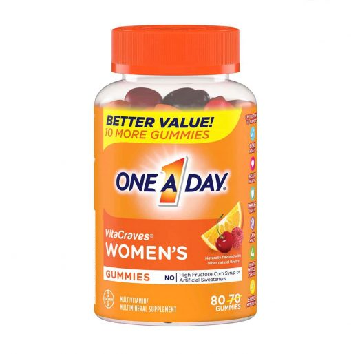 keo vitamin one a day women s vitacraves gummies 80 vien