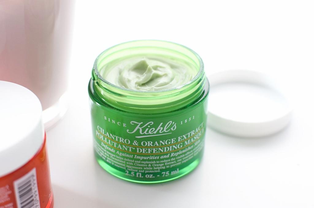 mat na kiehls cilantro orange extract pollutant defending masque