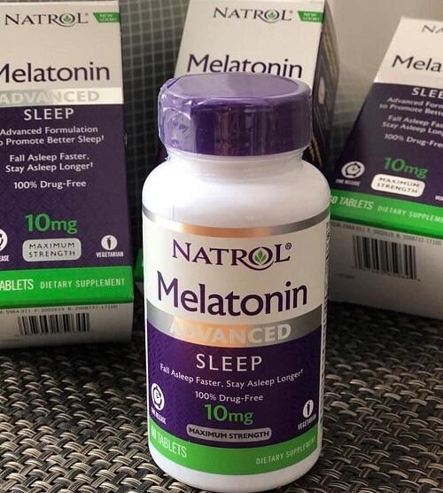 natrol melatonin 10mg giup ngu ngon