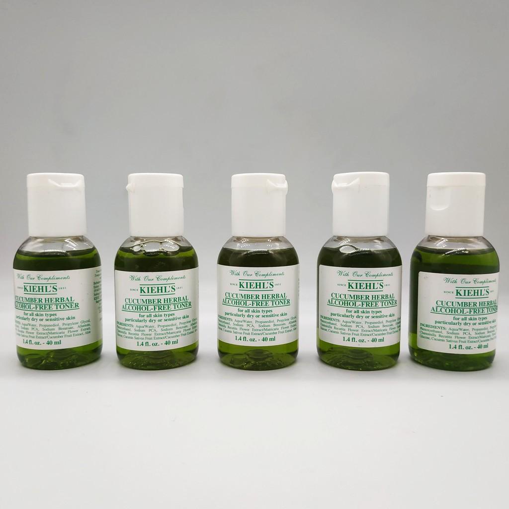 nuoc hoa hong can bang da kiehls cucumber herbal alcohol free toner 40ml
