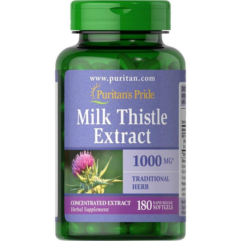 puritans pride milk thistle extract 180 vien