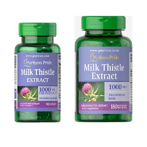 puritans pride milk thistle extract 90 180 vien