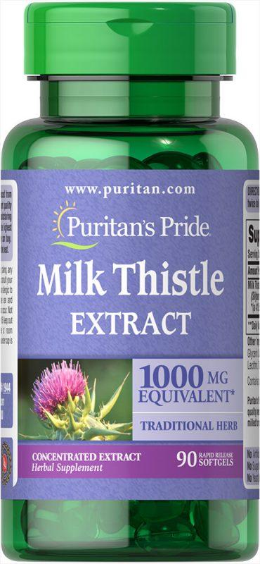 puritans pride milk thistle extract 90 vien