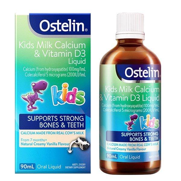 siro canxi ostelin kids milk calcium vitamin d3 liquid uc