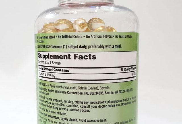 thanh phan Vitamin E 400 IU