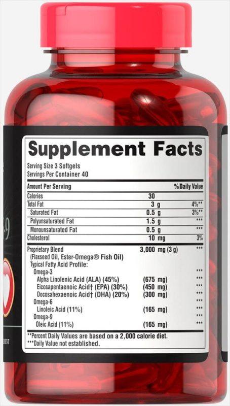 thanh phan bo tim puritans pride triple omega 3 6 9 fish flax oils