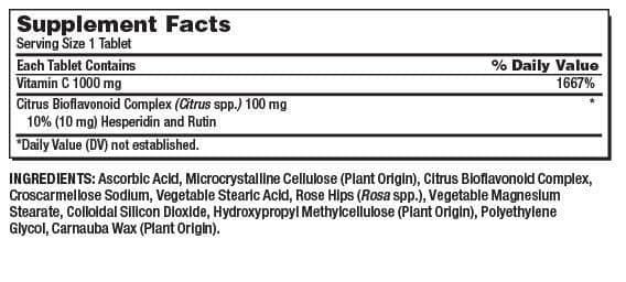 thanh phan kirkland vitamin c 1000mg