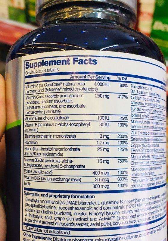 thanh phan vien tang tri nho focus factor nutrition for the brain usa new