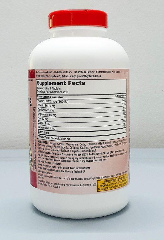 thanh phan vien uong kirkland signature calcium citrate magnesium zinc vitamin d3