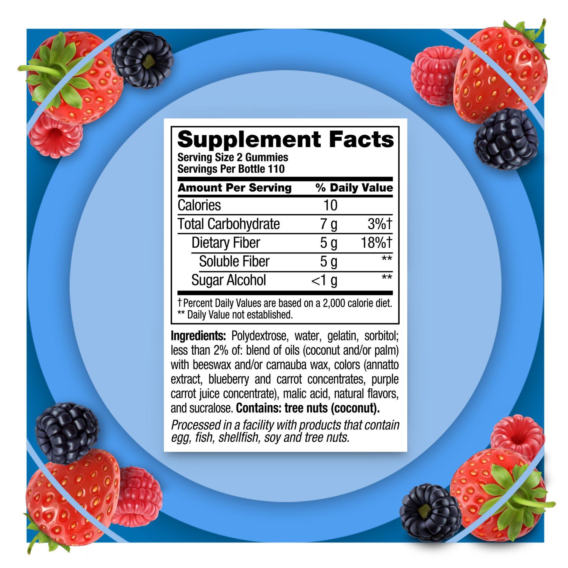 thanh phan vitafusion fiber well sugar free 220 gummies