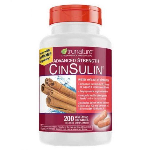 trunature advanced strength cinsulin