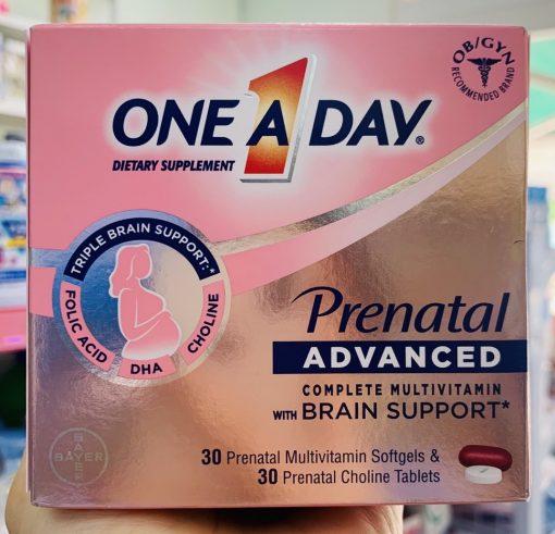 vien bo cho ba bau one a day prenatal advanced multivitamin choline 30 gels 30 tablets