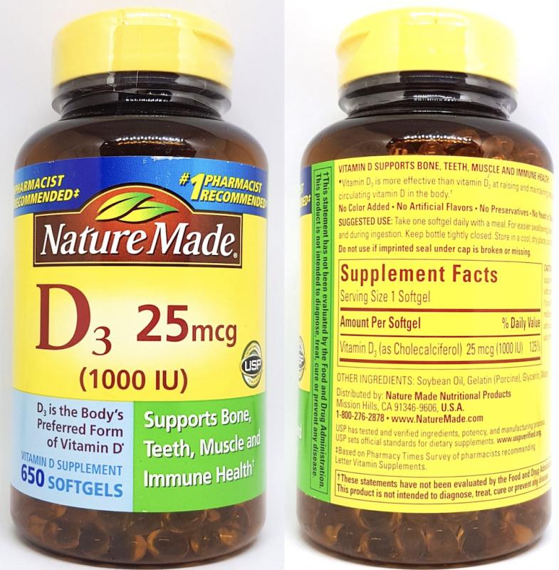 vien bo sung vitamin d3 1000 iu 25mcg chai 650 vien