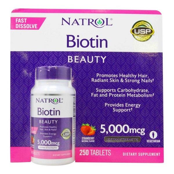 vien ngam Natrol Biotin Beauty 5000mcg