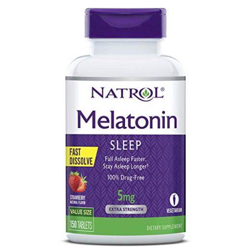 vien ngam giup ngu ngon natrol melatonin sleep 5mg my