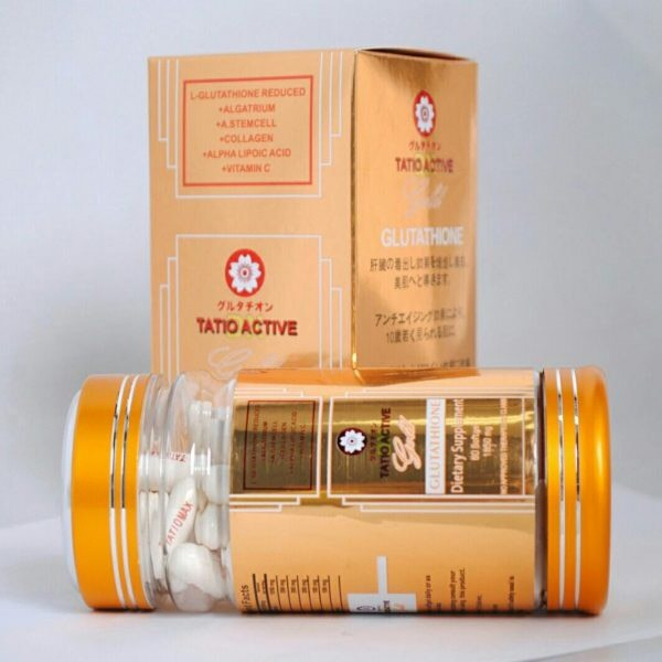 vien trang da tatio active gold glutathione 1850mg