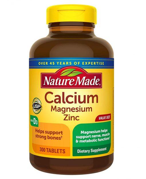 vien uong bo sung calcium magnesium zinc d3 nature made