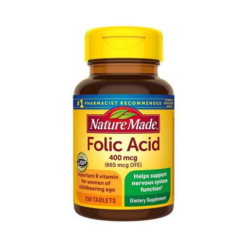 vien uong bo sung folic acid 400mcg nature made