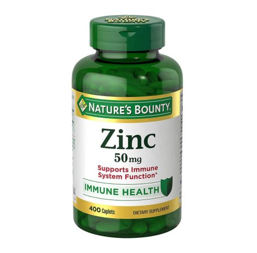 vien uong bo sung kem natures bounty zinc 50mg