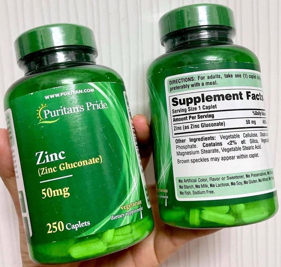 vien uong bo sung kem puritans pride zinc 50mg cua my