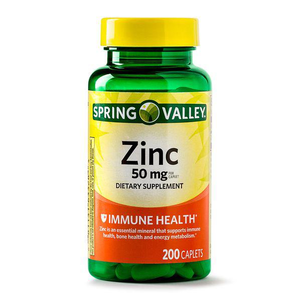 vien uong bo sung kem spring valley zinc 50mg