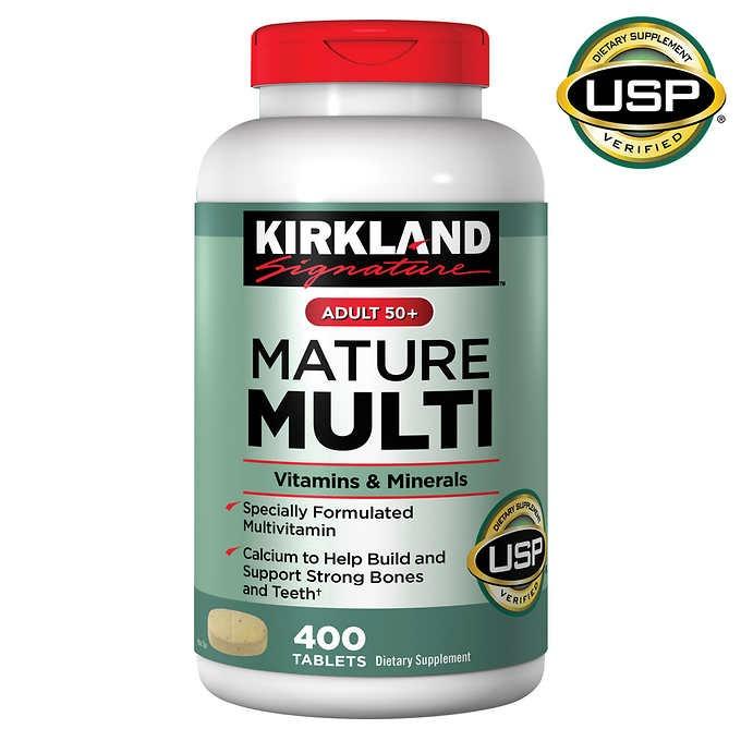 vien uong bo sung kirkland signature mature multivitamin adult 50